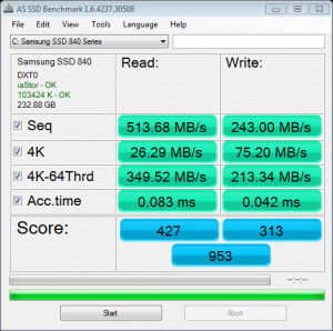 Oct '12 AS SSD Benchmark Speed Test