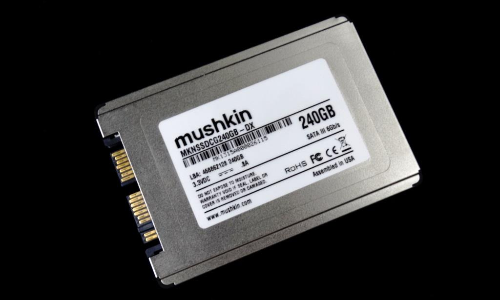 Mushkin Go 240GB SSD Angled Front