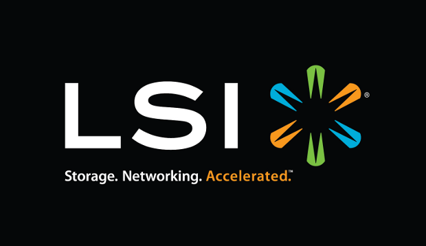 LSI logo dark background
