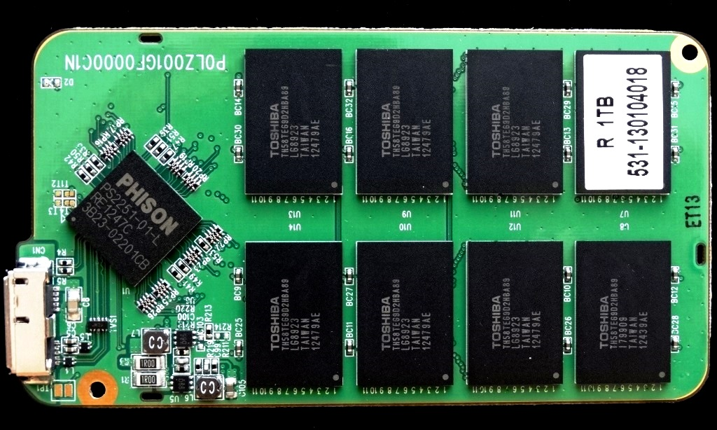 Monster Digital OverDrive 3.0 1TB PCB Front