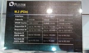 Plextor M2 Specs
