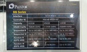 Plextor M6 Specs