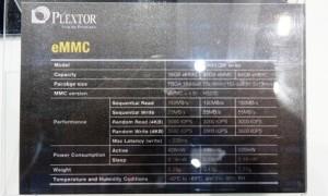 Plextor eMMC Specs