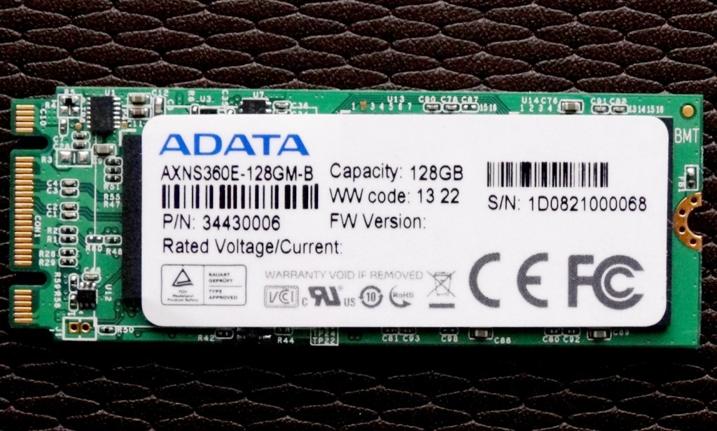 ADATA MPCIe 128GB SSD Front With Sticker