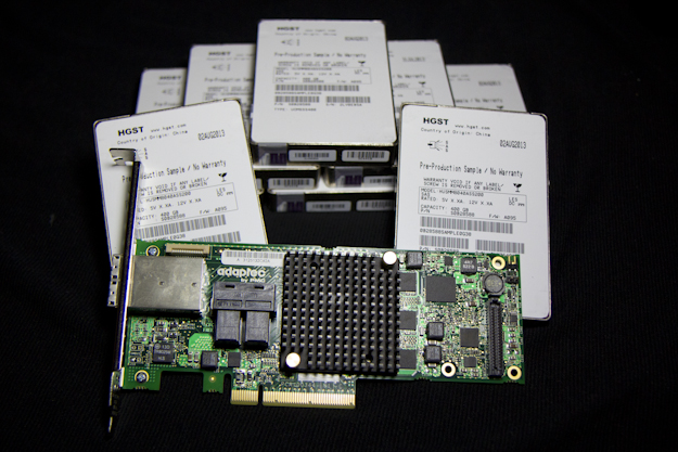 Adaptec (by PMC) ASR-8885 12Gb/s PCIe RAID Adapter – Raid Testing With 8 HGST 12
