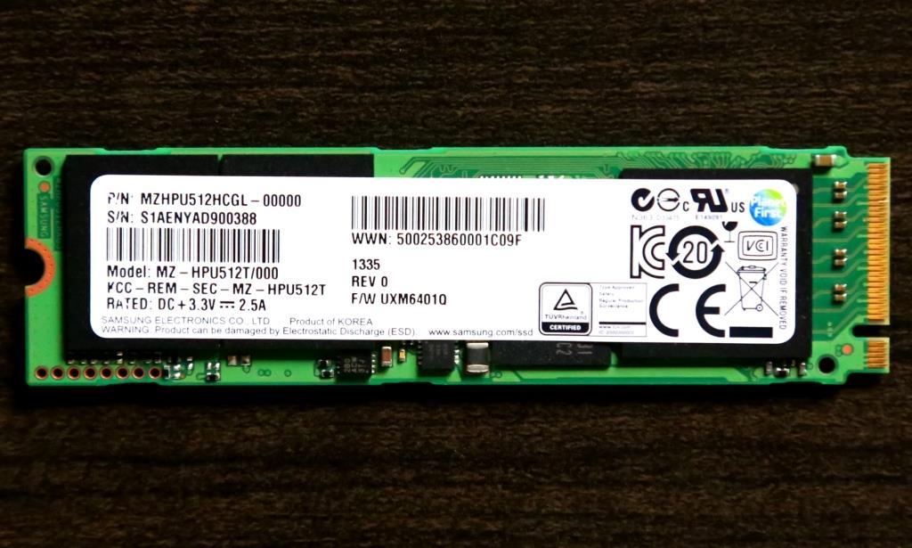 Samsung XP941 M.2 PCIe SSD (512GB)