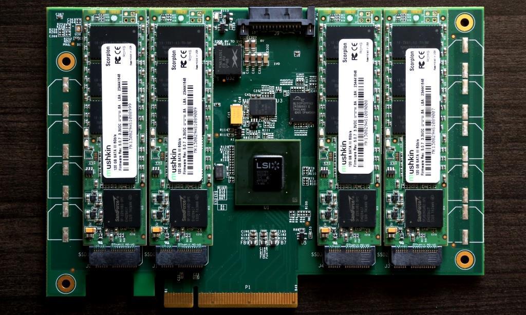 Mushkin Scorpion Deluxe PCIe PCB Front