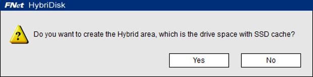 HybriDisk create cache