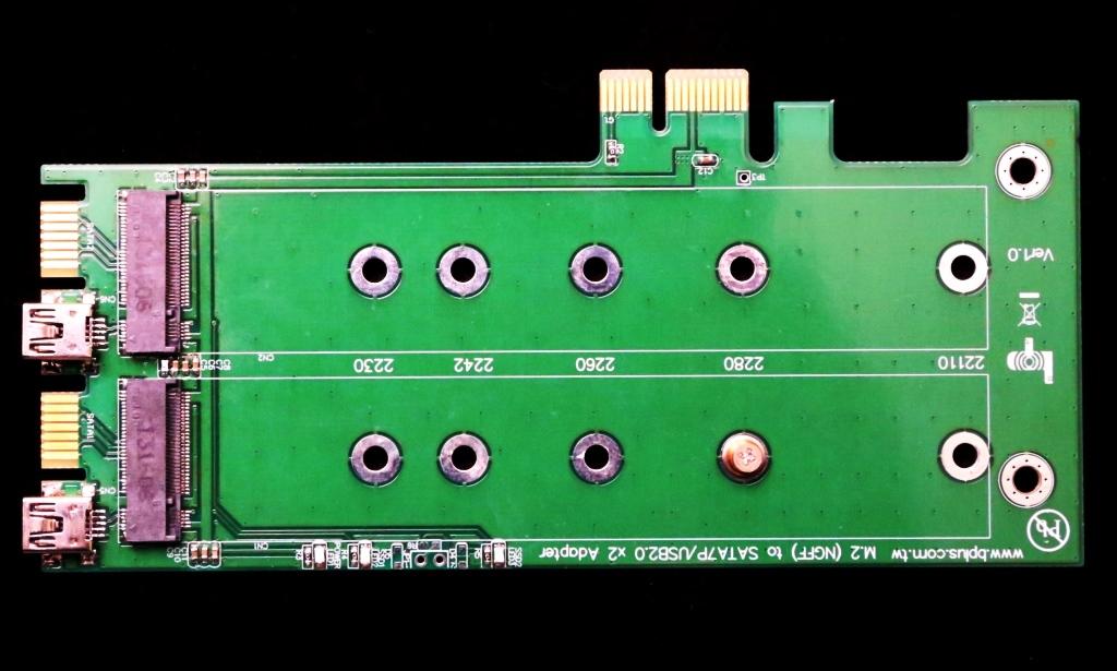 BPlus M.2 SATA PCIe X2 Adapter