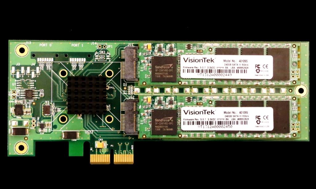 VisionTek Data Fusion PCIe SSD PCB Front