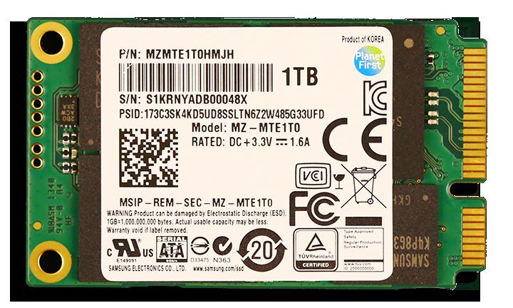 Samsung 840 EVO mSATA 1TB SSD SSD Label