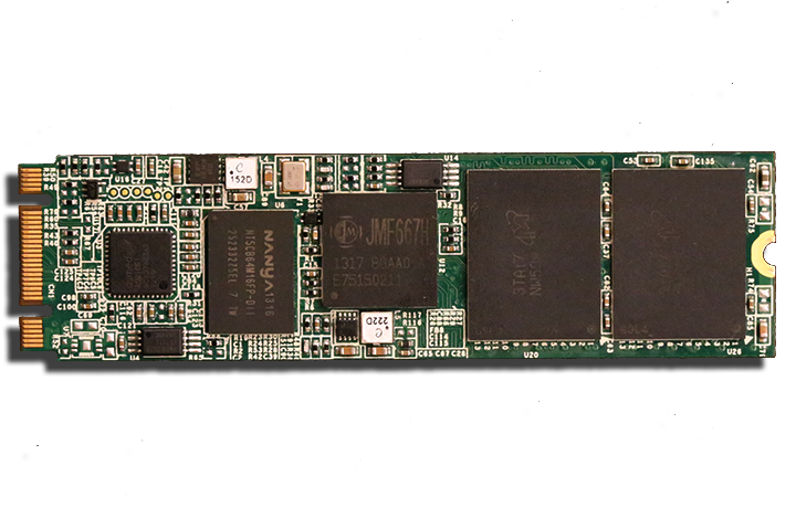 Super Talent DX 1 PCIe M.2 NGFF SSD Front PCB
