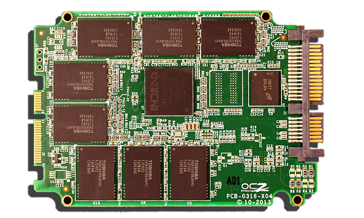OCZ 460 SSD PCB Front