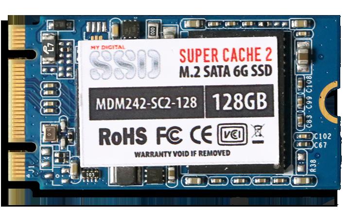 MyDigitalSSD SuperCache 2 M.2 128GB SSD Front