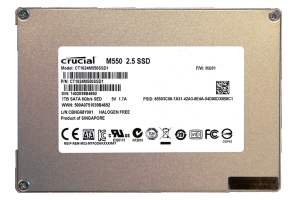 Crucial M550 1TB SSD Back