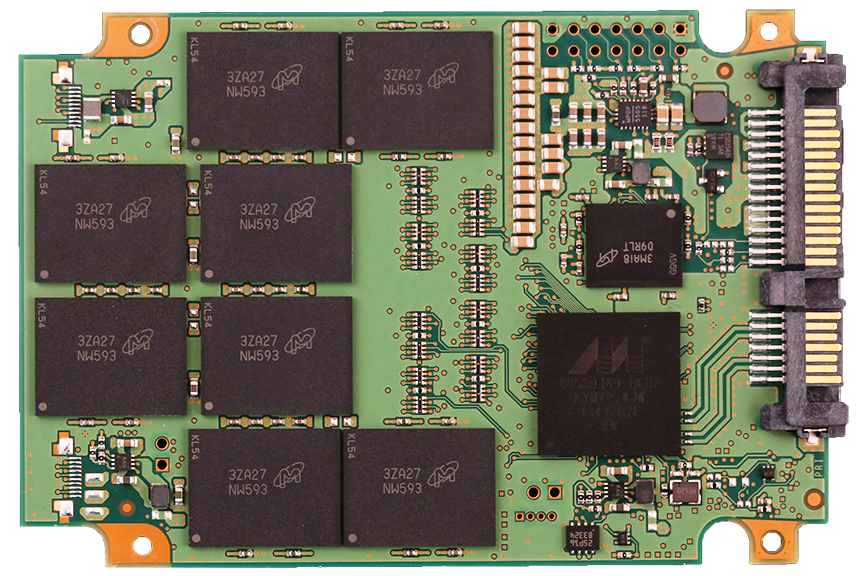 Crucial M550 1TB SSD PCB Front
