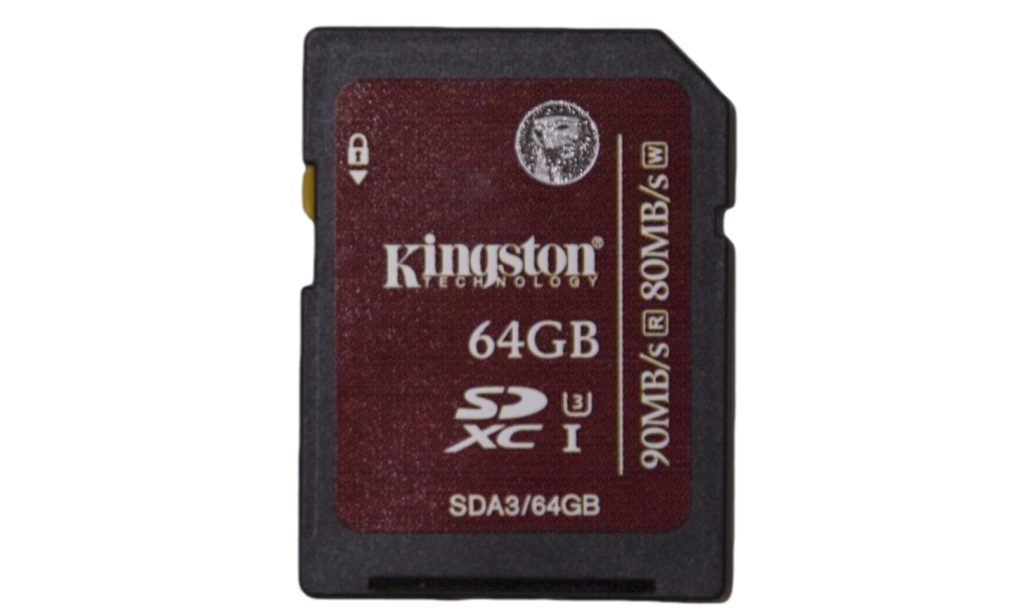 Kingston SDXC UHS-1 Speed Class 3 Flash Card Front