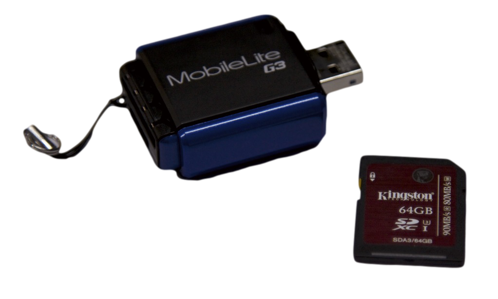 Kingston SDXC UHS-1 Speed Class 3 Flash Card and Reader