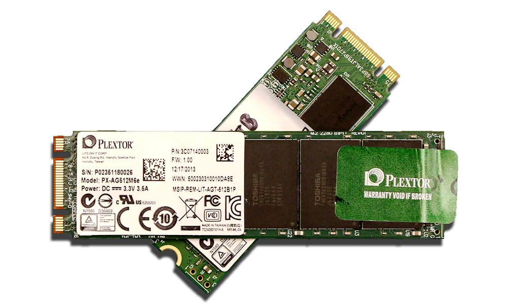 Plextor M6e PCIe M.2 256 and 512GB SSD 2