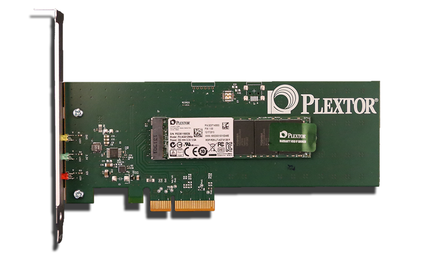 Plextor M6e PCIe M.2 SSD With Adapter