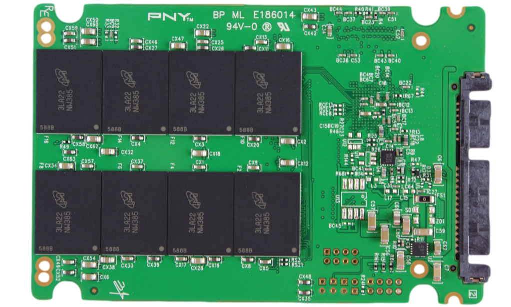 PNY OPTIMA SSD COMPONENTS BACK