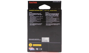 SANDISK SD CARD READER BOX BACK