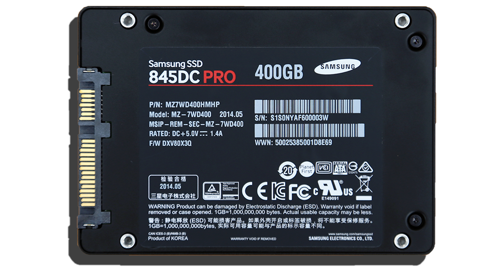 Samsung 845DC Pro 400GB SSD Back