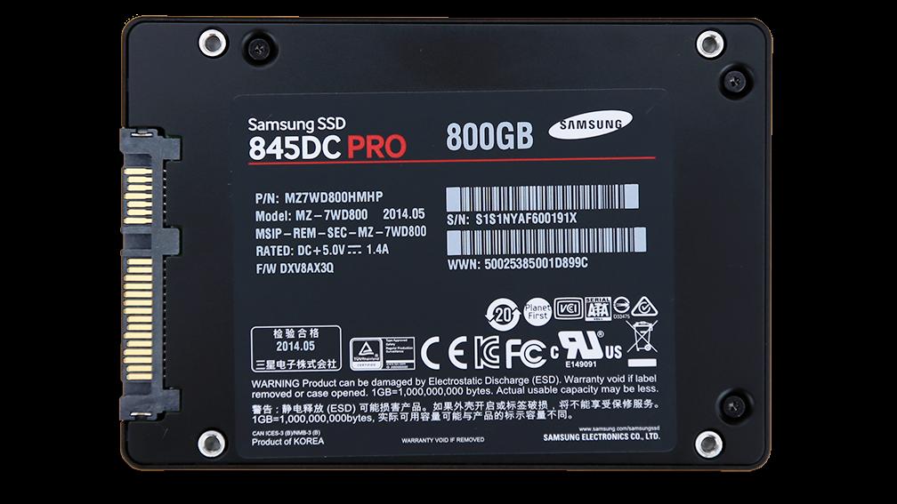 Samsung 845DC Pro 800GB SSD Back