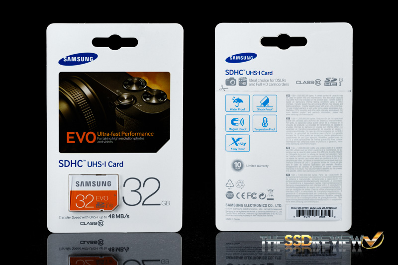 Samsung EVO SDHC 32GB Package