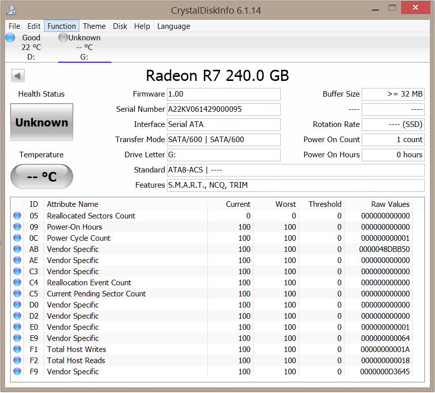 AMD Radeon 256GB SSD CDI