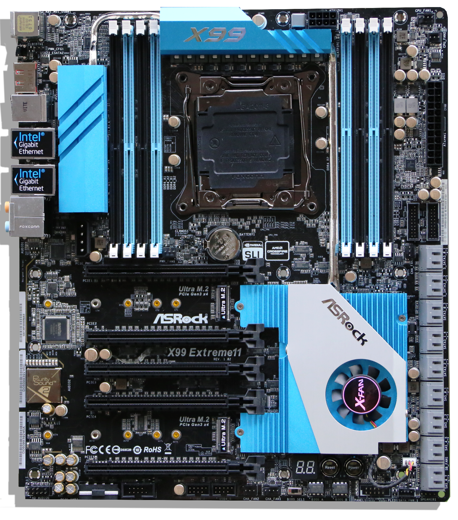 ASRock X99 Extreme11 Motherboard Overview 2