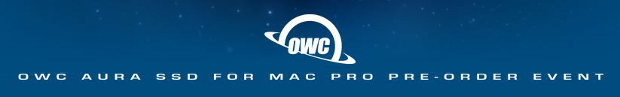 OWC Aura SSD preorder event banner