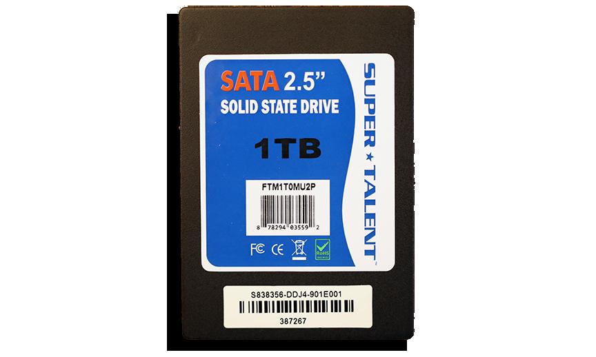 SuperTalent 1TB SATA 3 SSD Front