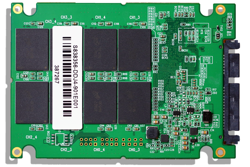 SuperTalent DuraDrive AT7 1TB SSD PCB Back