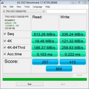250GB Eluktro Pro Performance AS SSD