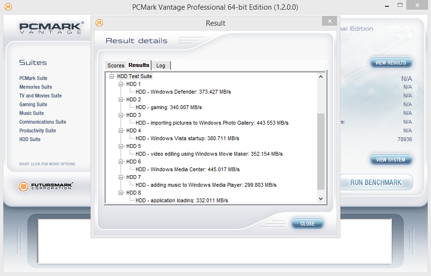 250GB Eluktro Pro Performance PCMark Vantage