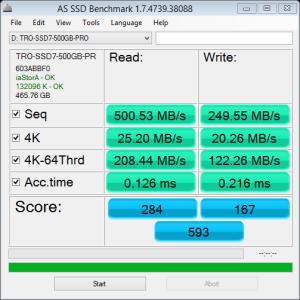 500GB Eluktro Pro Performance AS SSD