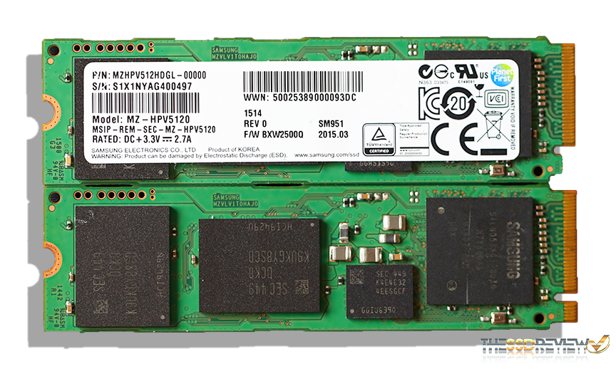 Samsung  SM951 M.2 SSD Front