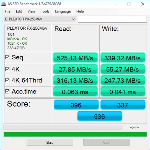 AS SSD 1 - Plextor M6V