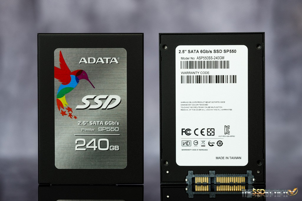 Adata Premier SP550 240GB Front and Back