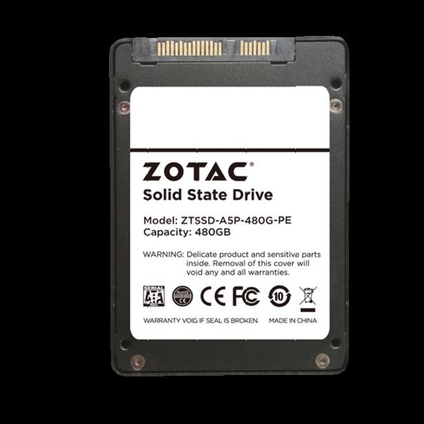 Zotac SSD 480GB rear