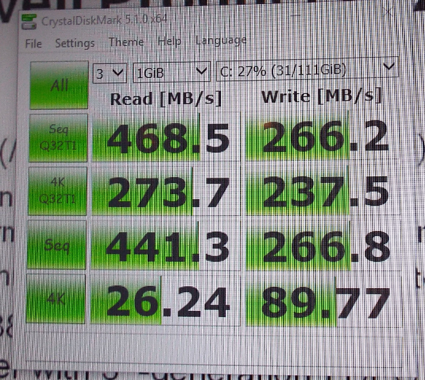 Marvell Dean SSD controller 2pont5 inch CDM results
