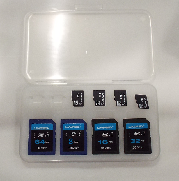 Unirex SD and microSD cards