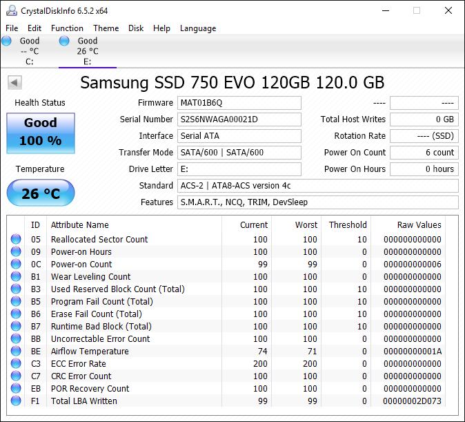 Samsung 750 EVO 120GB Tests 1