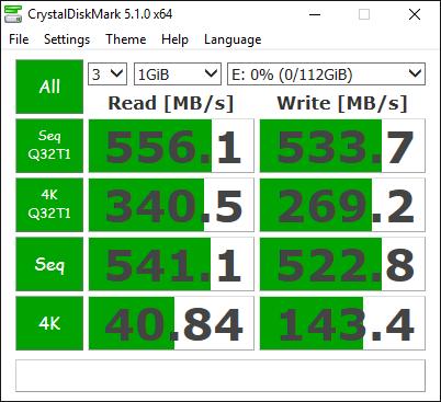 Samsung 750 EVO 120GB Tests 5
