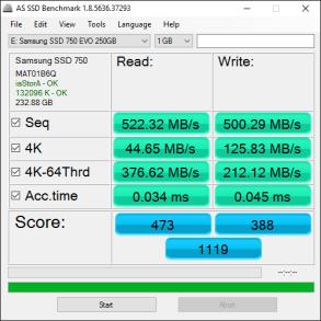 Samsung 750 EVO 250GB Tests 6