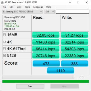 Samsung 750 EVO 250GB Tests 7