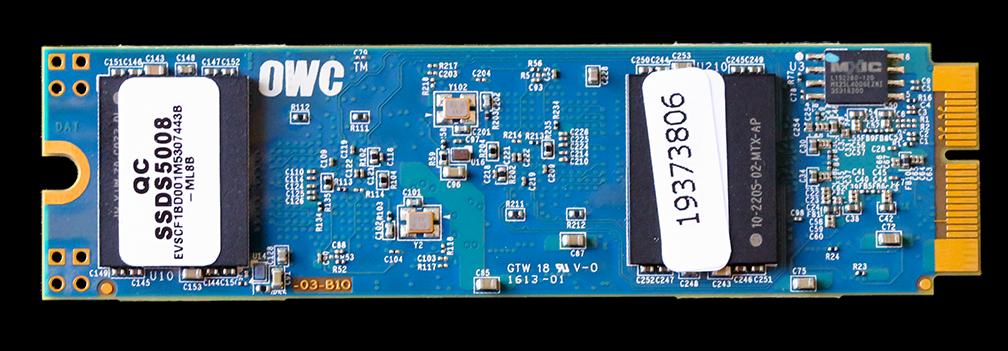 OWC Aura PCIe 1TB SSD (mid-2012) PCB Back2