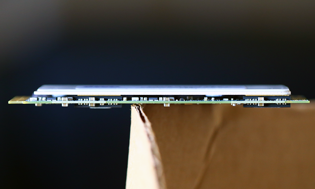 OWC Aura PCIe 1TB SSD (mid-2012) Side View