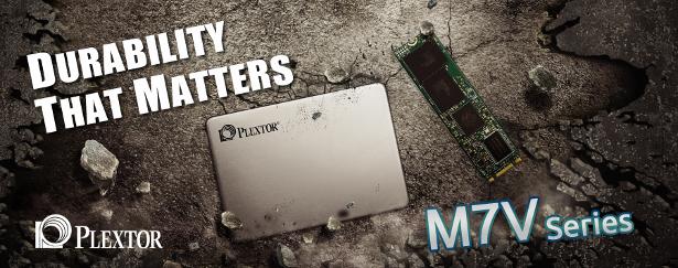 Plextor M7V series banner